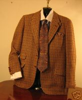 Bespoke Houndstooth Tweed Coat