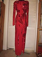Red Sequinned Gown